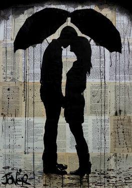 "Saatchi Art Artist Loui Jover; Drawing, ""chance of rain"" #art"