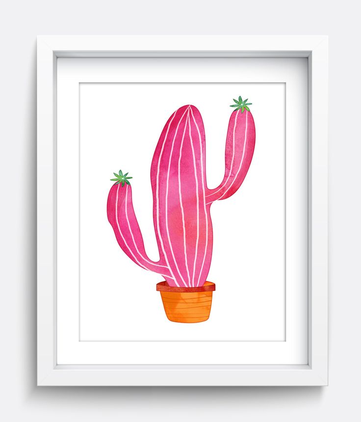 Cactus Print, Instant Download Printable Art, Printable Wall Art, Nursery Art…