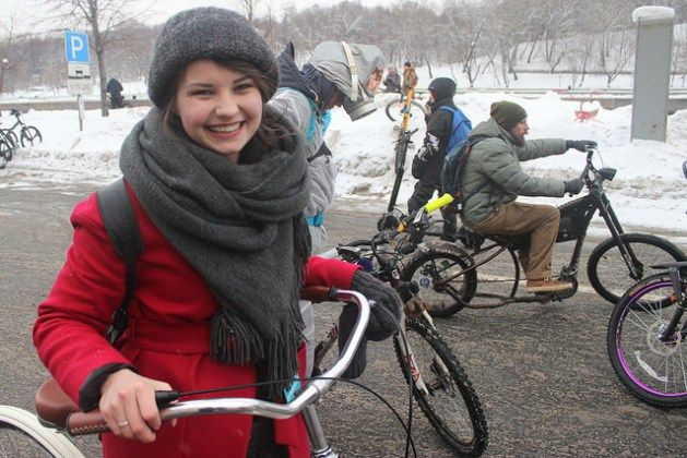 The wonderful (and inspiring) bike lovers of the Moscow Winter Bike Parade