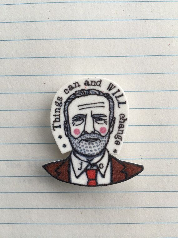 Maybe we should start making our own Jeremy Corbyn badges!   Jeremy Corbyn badge by DorkDisco on Etsy.