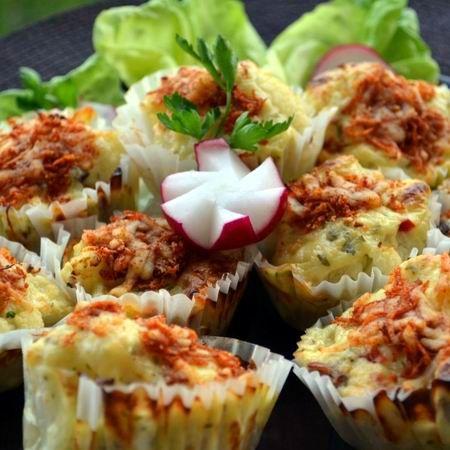 Sonkás-karfiolos muffin