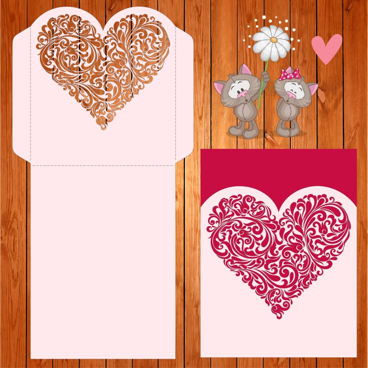 Invitación de la boda tarjeta plantilla corazon, figuras, romántico (ai, eps, svg) lasercut descarga inmediata de thehousedesigns en Etsy