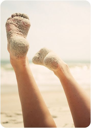barefoot in the sand . grass, mud, rocks, dirt. You know, just that crazy barefoot girl!