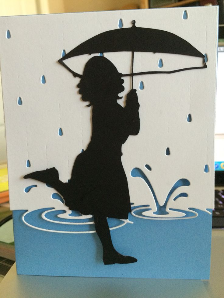 Puddle card Sorry to hear you are under the weather MEMORY BOX DIE - SPLASHING PUDDLES