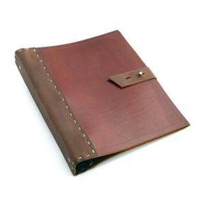Leather Binder Thicker Rustic Cover 3 Ring Binder