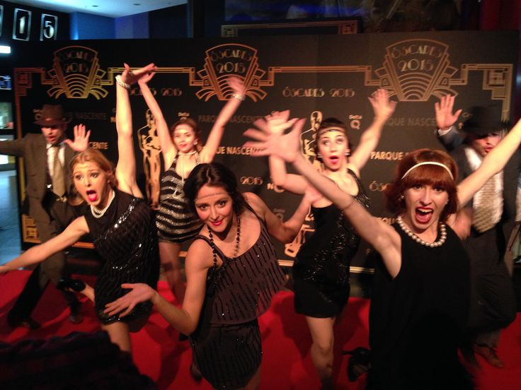 """Diversão em Noite dos Óscares com o tema """"Os Loucos Anos 20"""" :)  #loucos #anos20 #noite #oscares #parquenascente #cinemaNOS #redcarpet #danca #musica"""