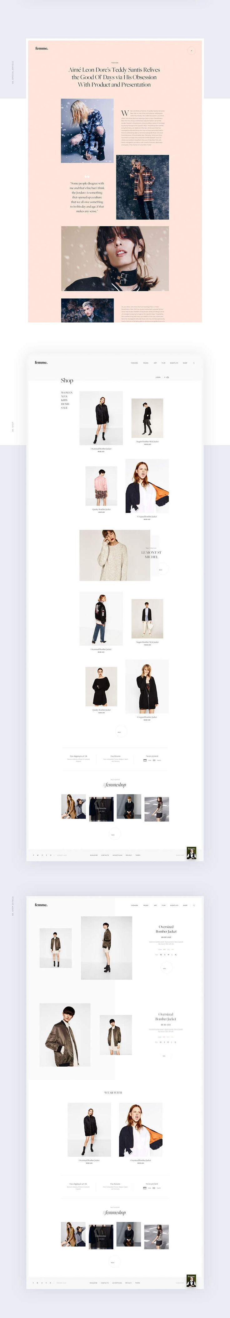 Femme4 #ui #ux #userexperience #website #webdesign #design