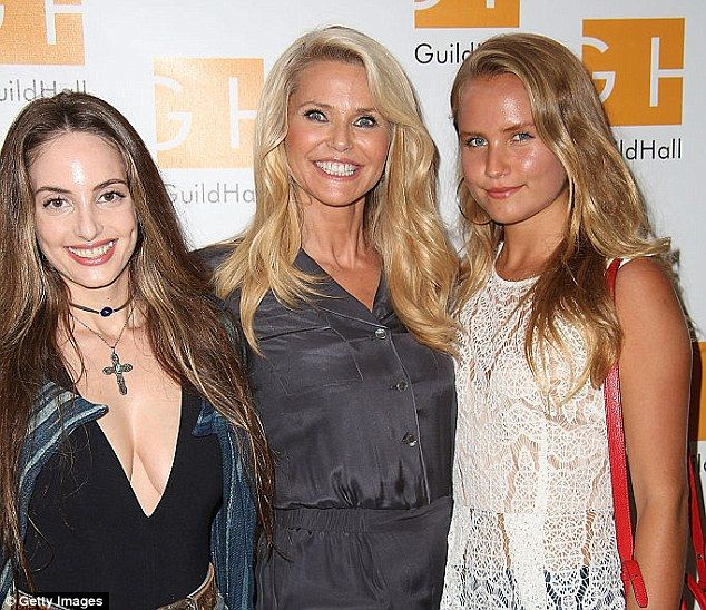 Good genes: Christie's youngest daughter, Sailor Cook (right), 18, is pursuing modeling, while her eldest, Alexa  Ray Joel (right), 30, is a singer like her famous father, Billy Joel