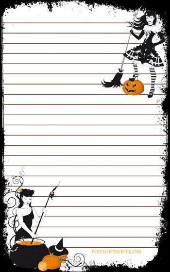 Free Halloween stationery printable