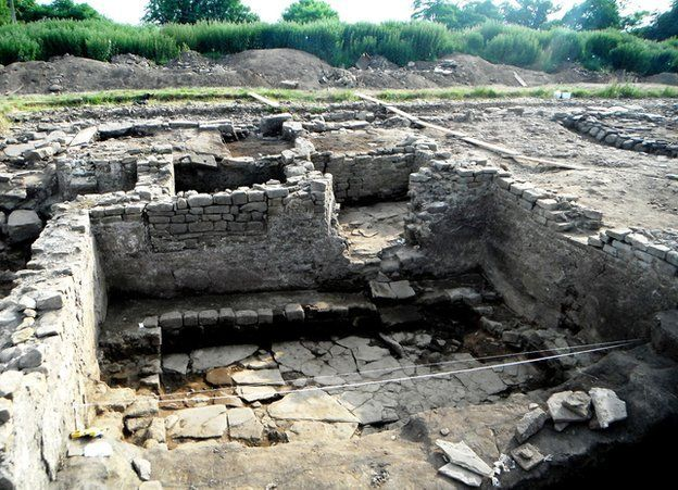 "Archaeologists excavating a Roman site in County Durham say their finding amount to ""the Pompeii of the north"". The team digging at Binchester, near Bishop Auckland, has only just verified the importance of a number of their discoveries. They include a bath house, a silver ring and an inscribed altar dedicated to a Roman goddess."