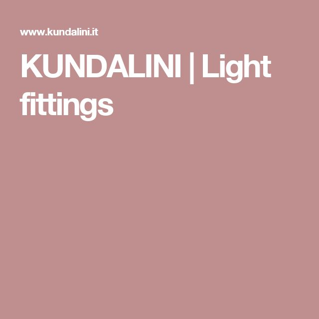 KUNDALINI | Light fittings