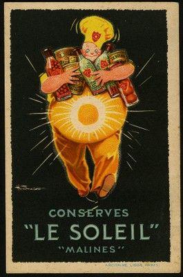 """H. Fournier, Conserves """"Le Soleil"""" """"Malines"""", s.d."""