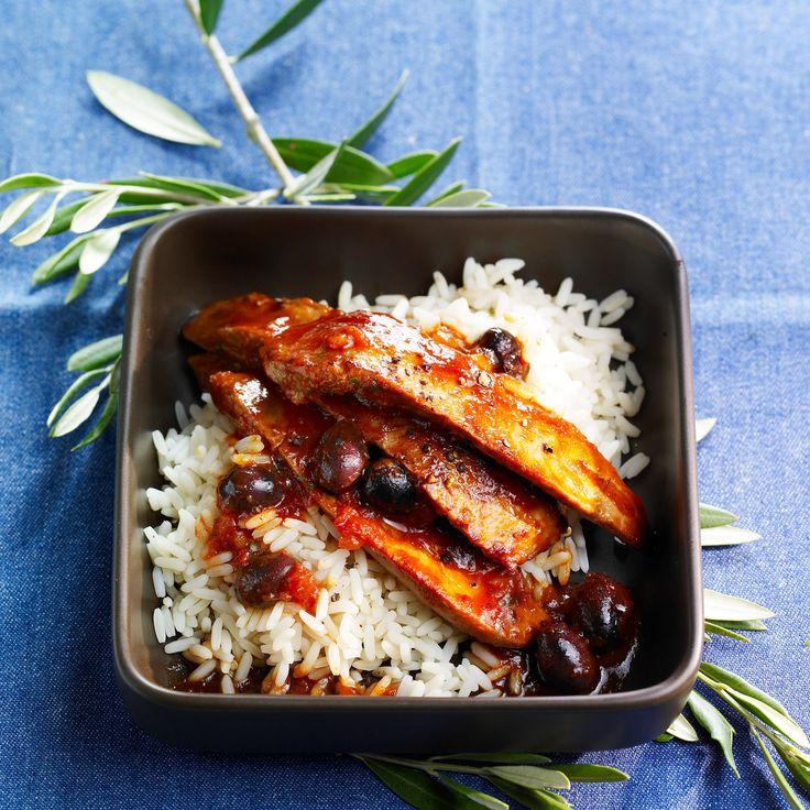 Découvrez la recette des aiguillettes de canard aux olives