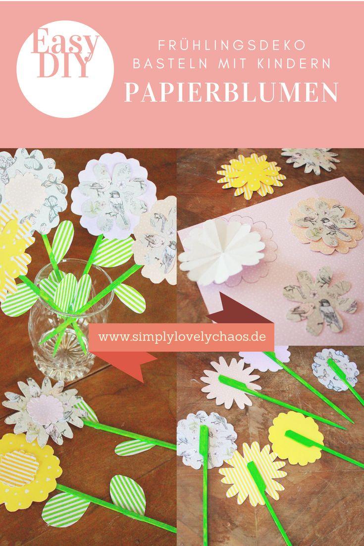 papierblumen diy fr hlingsdeko basteln mit kindern gastbeitrag spring diy. Black Bedroom Furniture Sets. Home Design Ideas