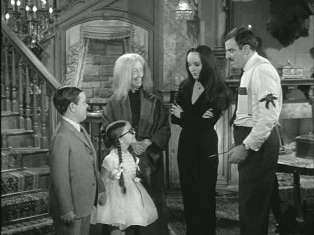 "In the first season's Halloween episode, Pugsley and Wednesday dress up like ""normal people,"" and Morticia finds their costumes to be ""a little too startling."" Uncle Fester advises them not to frighten the neighbors too much: ""When you knock on peoples' doors, you'd better say, 'Do not be alarmed. We are only little children.'"""
