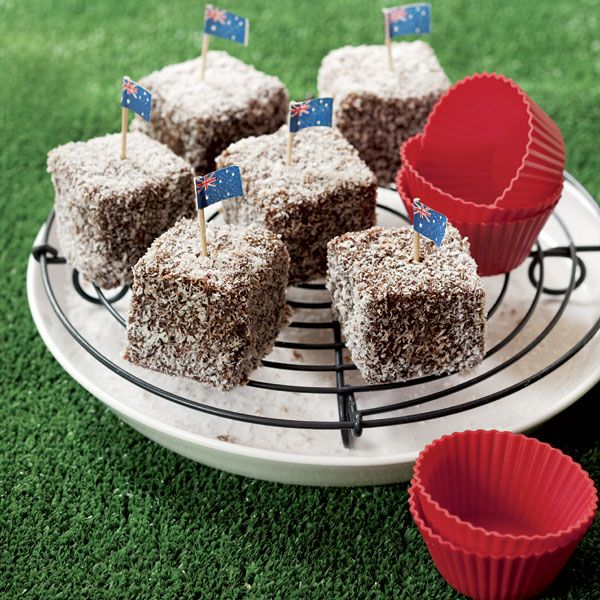 #Lamingtons: Delicious soft cake morsels covered in chocolate and coconut. #Australia