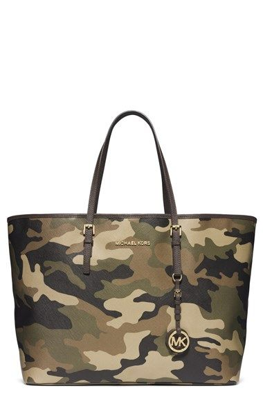MICHAEL Michael Kors Camouflage 'Medium Jet Set' Travel Tote Duffle $200, get it here: http://rstyle.me/~2COHu