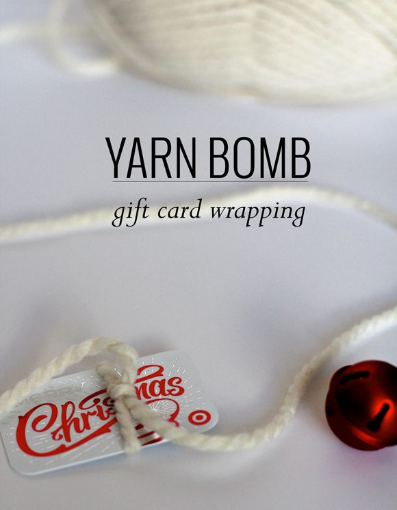 Gift card present ideas! #GiftCardCheer #TargetHolidayGiftCard Make It :: Gift Card Yarn Bombs | Thoughtfully Simple
