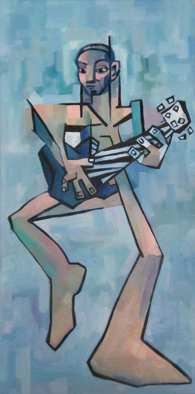 "JACO, 2015, Oil on Canvas, 30"" x 60""  TyroneRogers.com"