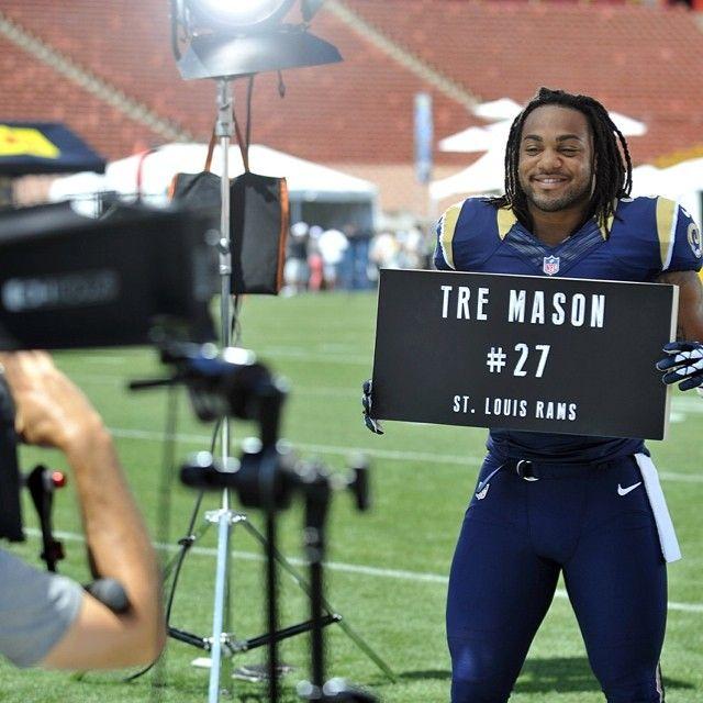 Uno. Dos. Tre. Running Back Tre Mason making NFL promos.