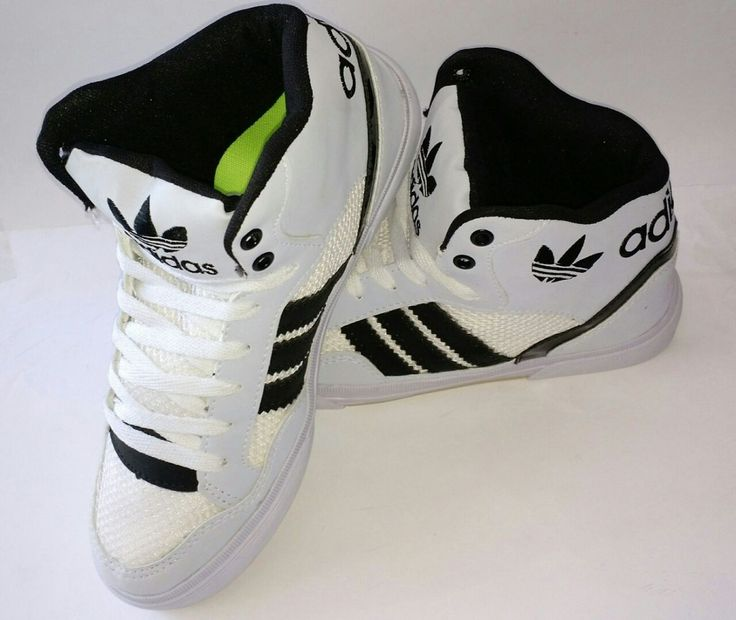 bota botinha adidas skate sk8 preto e branco unissex +frete