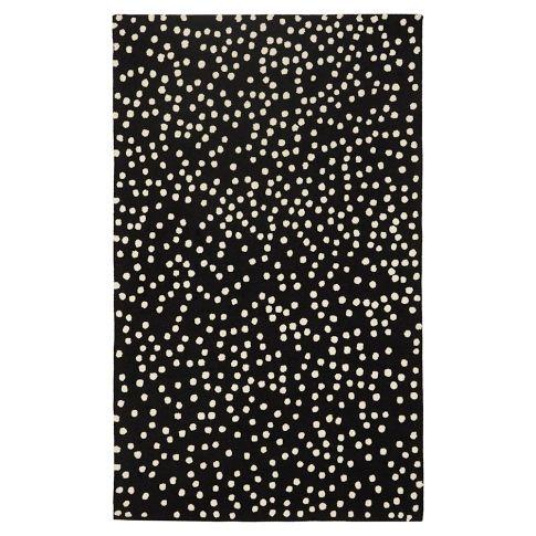 Mini Dot Rug Black Pbteen Rugs Pinterest Polka
