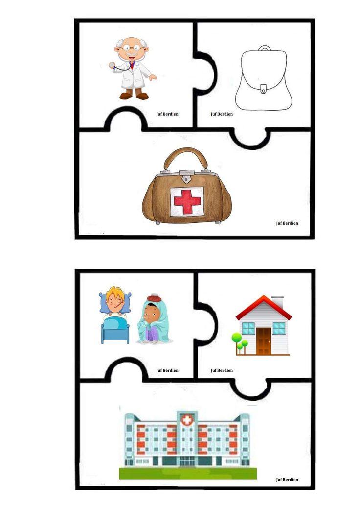 Juf Berdien samengestelde woorden taal thema ziek zijn dokter kleuters klas Preschool