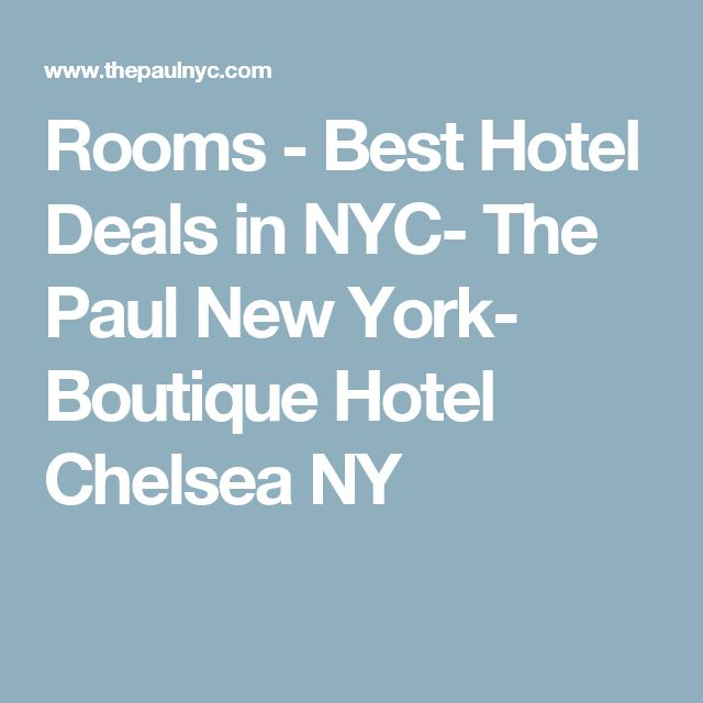 Rooms -  Best Hotel Deals in NYC- The Paul New York- Boutique Hotel Chelsea NY