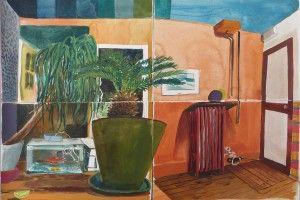 sans titre (atelier), aquarelle sur papier, 46 x 62 cm Mathieu Cherkit