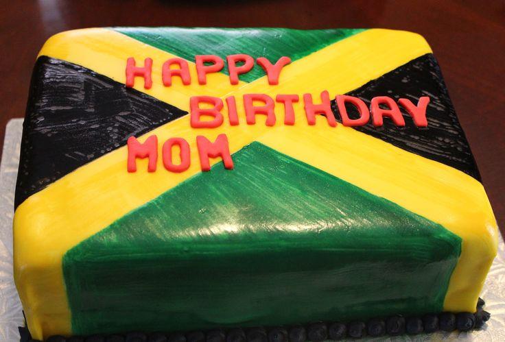jamaican baby shower | Jamaican Flag Cake