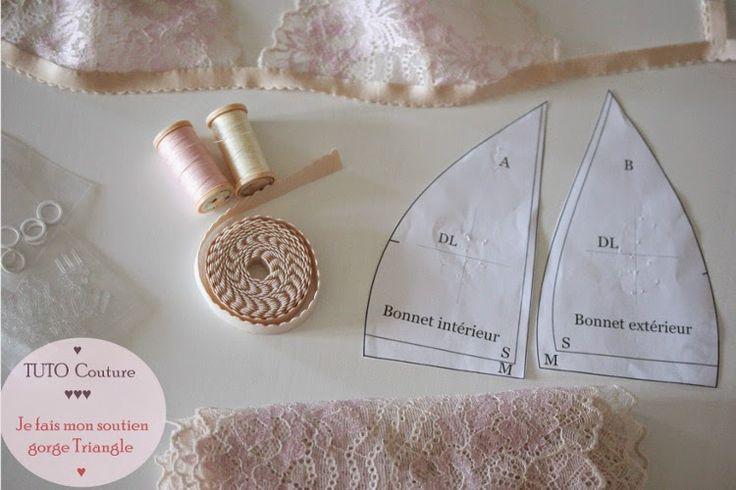 Tuto couture : Confectionner son soutien gorge triangle facilement