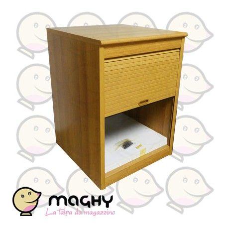 Mobile a persianina - 140,00 € - Solo online: http://www.maghy.eu/arredamento/176-mobile-a-persianina.html - Codice  persianina - Prodotto   Nuovo - Articolo nuovo EX ESPOSIZIONE MOBILIFICO - Peso cad.: 40 kg - Dimensioni: 60x62x84(H) cm
