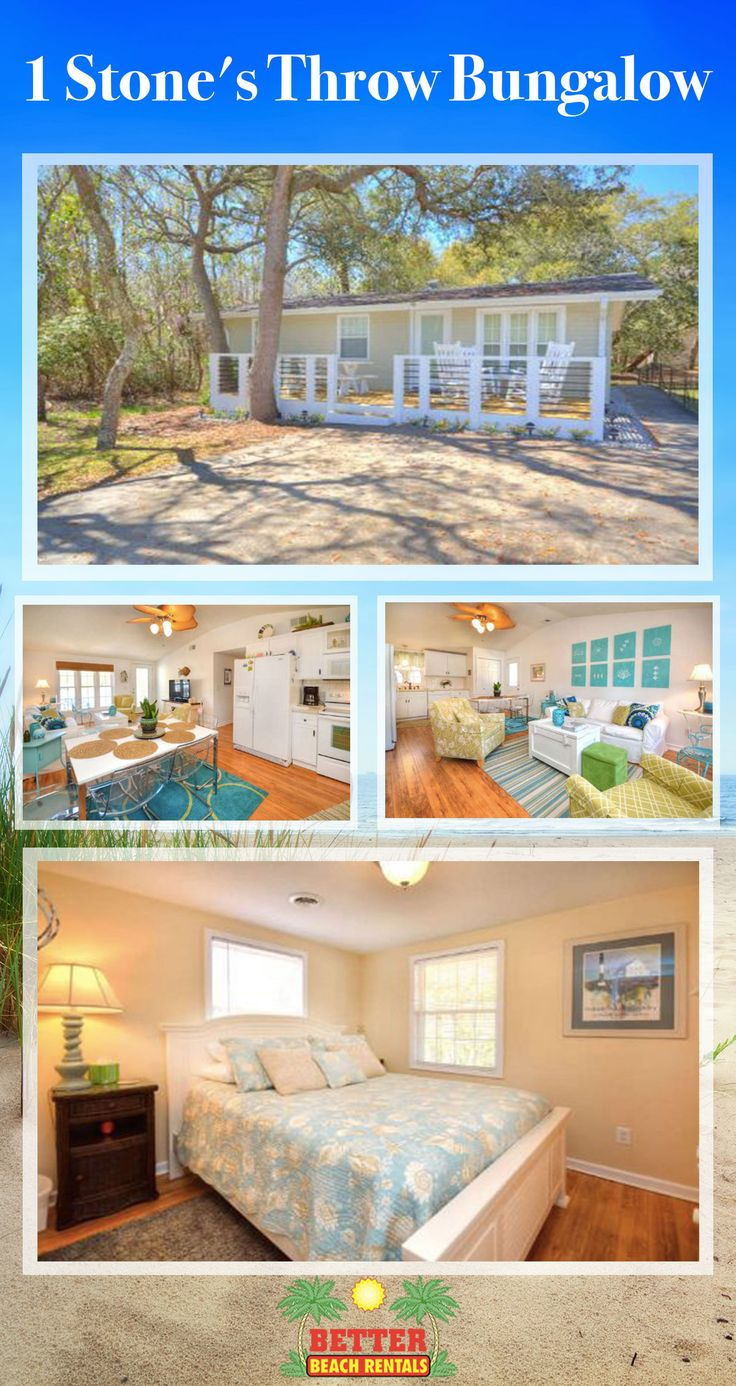 This super cute beach bungalow is a wonderful place to relax and unwind. There are 3 bedrooms...and beach access is just a few steps away. Book your 2018 beach vacation today!