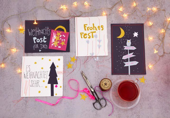 Handmade - Do it yourself: Weihnachtskarten Mit Vorlagen zum ausdrucken!