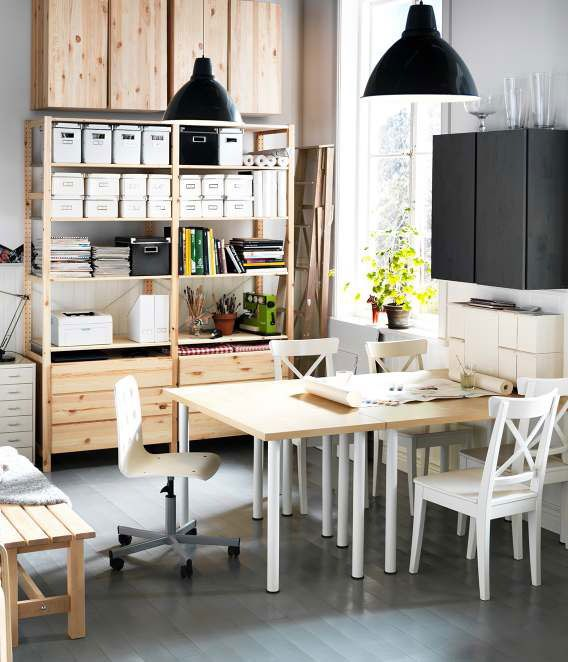 ikea workspace organization ideas 2012 digsdigs - Ikea Modern Home Office
