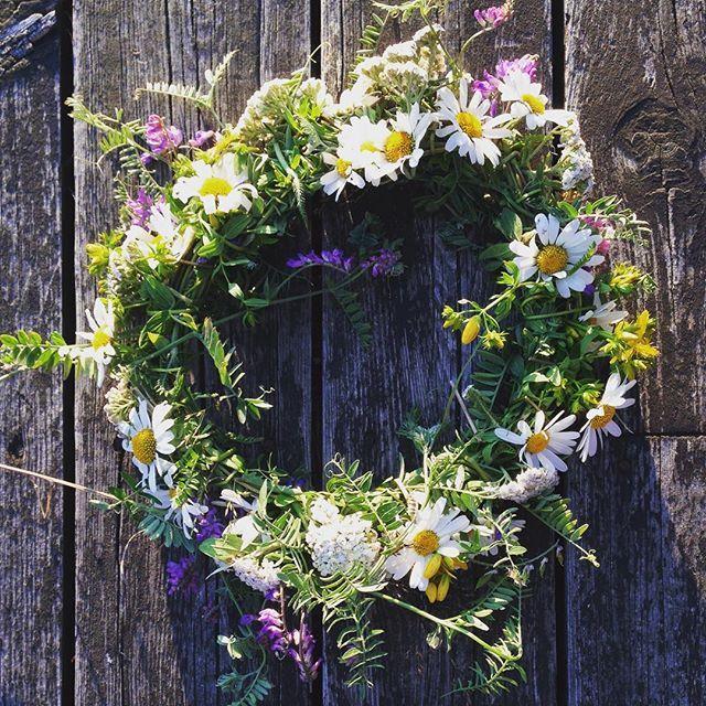 Sommeridyll #blomsterkrans #markblomster #hyttesommer