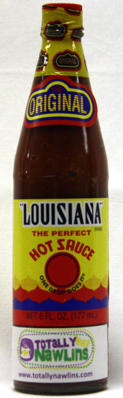 """Dozens of imitators have used the """" Louisiana"""" name to promote their sauces, but ours is the first (and the best ! ). Blended from authentic cayenne peppers, our hot sauce is aged for one year like fine wine. They always say in cajun country a drop will do it !"""