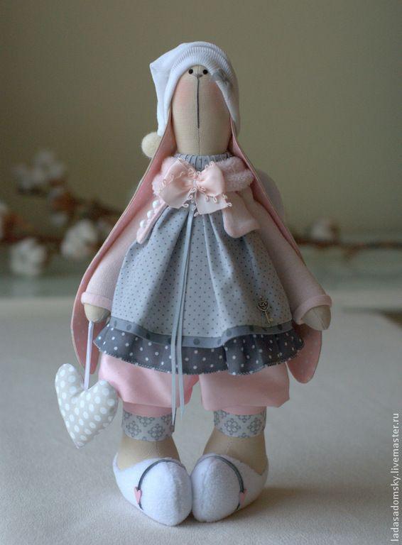 Зайка -девочка ангелочек Daniella - 38 см - бледно-розовый,нежно-розовый