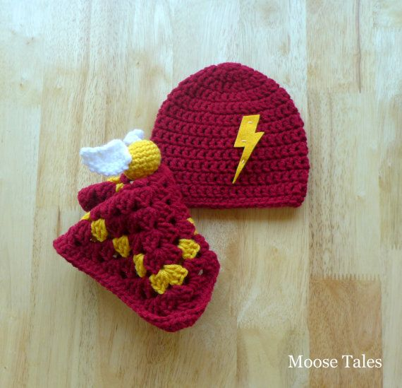 Moose Takes: Crochet Harry Potter Baby Set #harrypotter #moosetales #lovey #snitch #hp