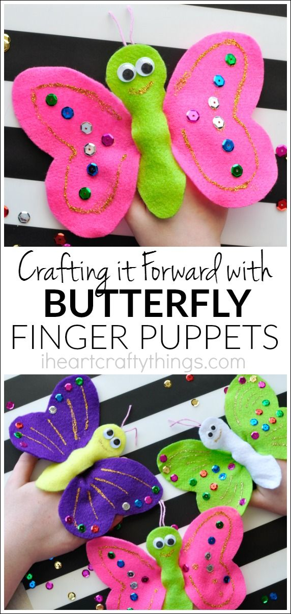 Kids will love being creative and making these colorful butterfly finger puppets. After making them they can fly them around and play with them. Learn how this pretty butterfly craft is also a great way to teach children about the joy of giving.