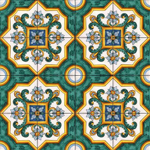 17 migliori idee su motivi per pavimenti su pinterest - Piastrelle siciliane antiche ...