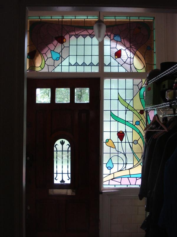 Jugendstil stained glass window, Utrecht
