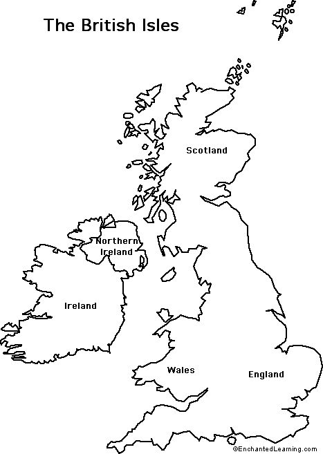 Outline Map British Isles British Isles British Isles Map Uk