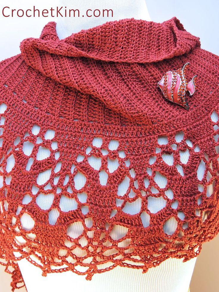 Cinnamon Fling Wrap By Kim Guzman - Free Crochet Pattern - (ravelry)