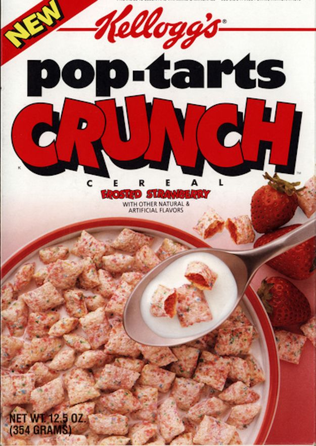 This was a thing????  Pop-Tarts Crunch | 26 Cereals From The '90s You'll Never Be Able To Eat Again