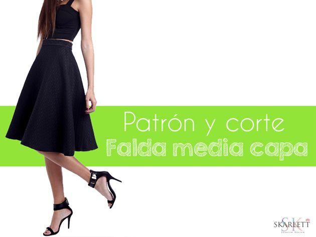 Patrones faldas / Falda media capa