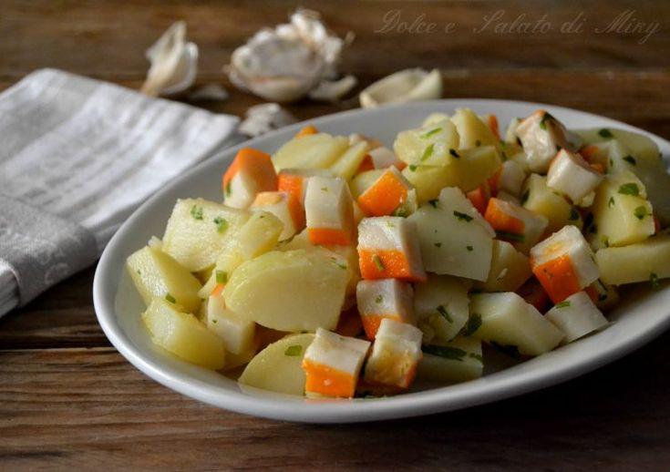 Insalata di surimi e patate