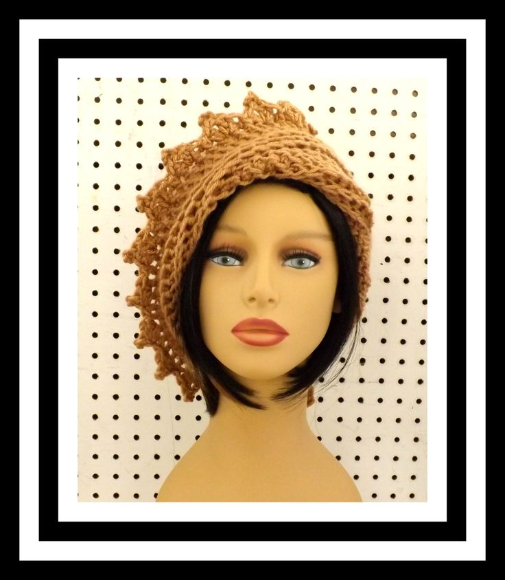 Toasted Almond Crochet Hat Womens Hat Crochet Beanie Hat Toasted Almond Hat African Hat Crochet Winter Hat LAUREN Beanie Hat for Women 40.00 USD by #strawberrycouture on #Etsy - MUST SEE!