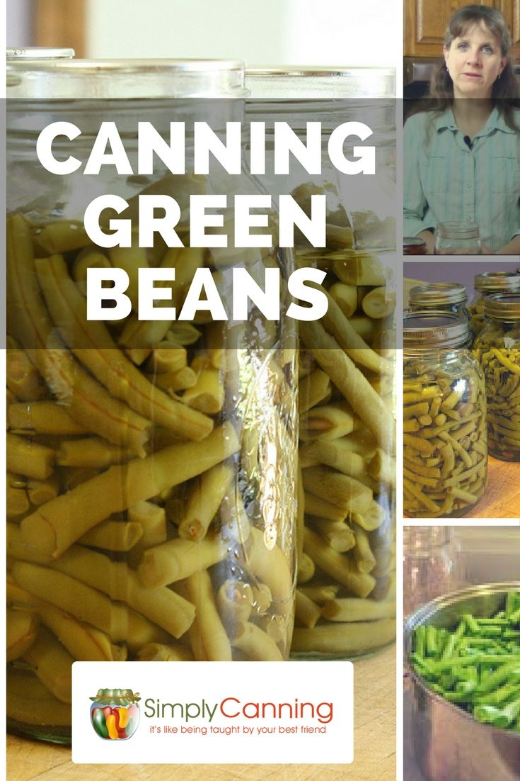Canning Green Beans with a pressure canner not a water bath canner.