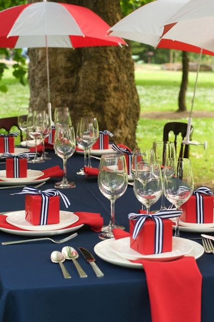 Fourth of July table!